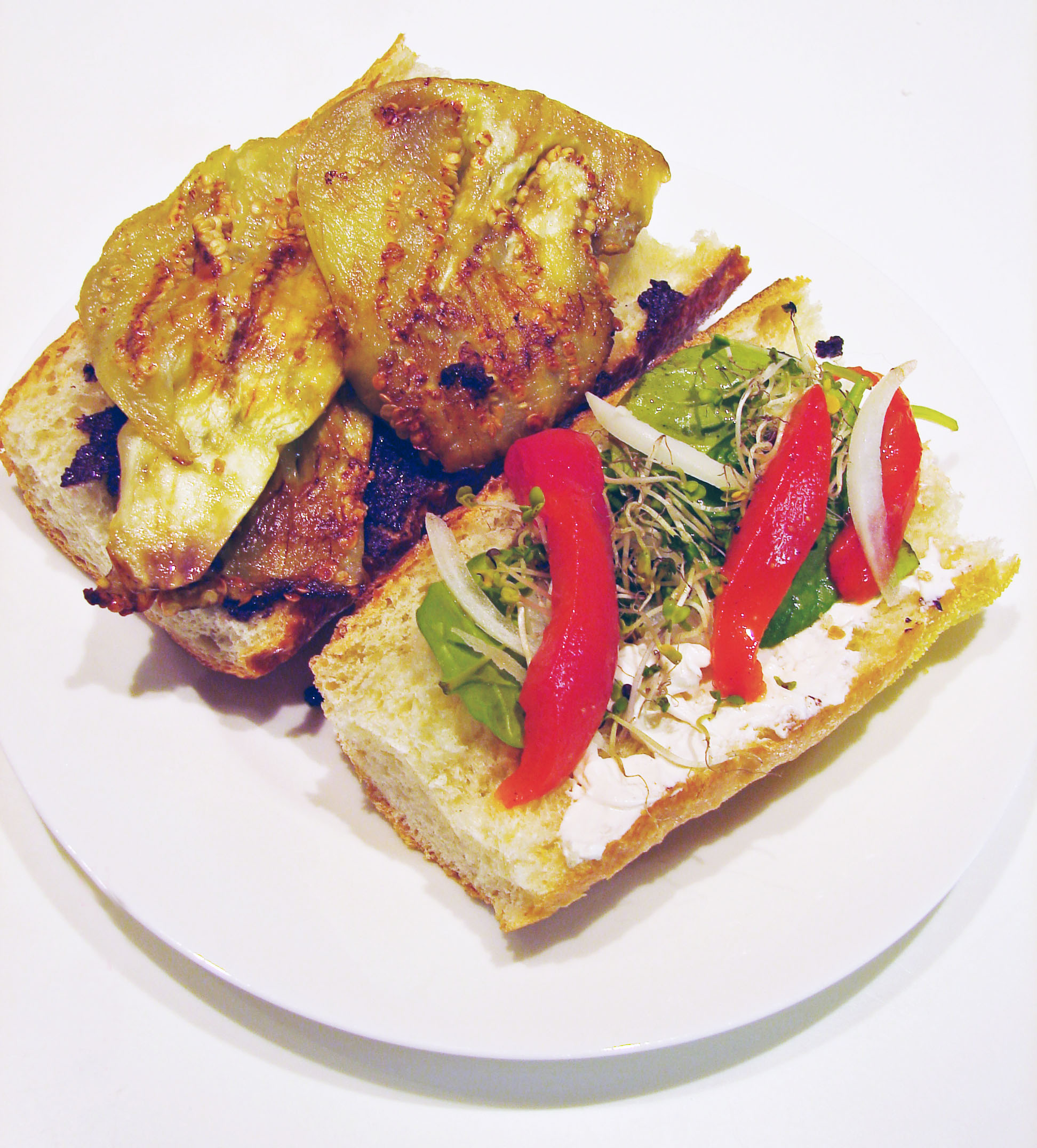 Eggplant and Roasted Red Pepper Sandwich | Vegan in the Kitchen
